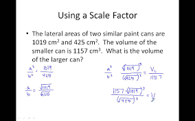 11 7 areas and volumes of similar solids youtube