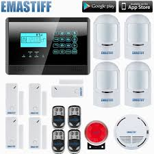 homsecurity diy wireless wired gsm home security burglar alarm system kit with sos intercom 4