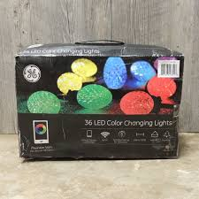 ge led christmas lights light show sets ge itwinkle smartphone controlled 36 led color changing