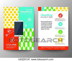 flyer graphic design layout clip art of graphic design layout with smart phone concept template