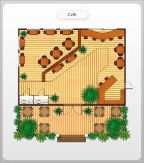 layout denah cafe conceptdraw sles floor plan and landscape design