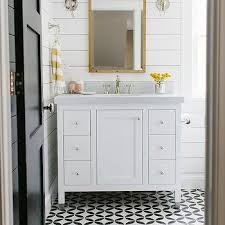 white and yellow bathroom floor tiles design ideas