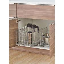 Kitchen Cabinets Baskets Wire Pull Out Organizers Kitchen Cabinet Organizers The Home