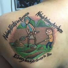 rick and morty tattoo ideas cool tattoos inspired by rick and morty