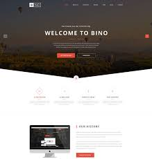 bino free landing page website template freebies free landing page