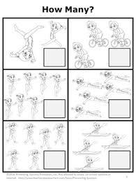 math packet kindergarten math worksheets summer olympics sports