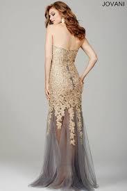 jovani style gunmetal grey strapless prom dress 98574 shm98574