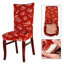 1 pcs removable cartoon printed stretch slipcovers short dining