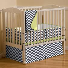 Navy Blue And White Crib Bedding by White And Navy Zig Zag Mini Crib Skirt Box Pleat Carousel Designs