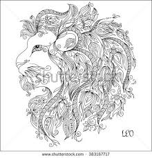 pattern coloring book hand drawn line stock illustration 383167717