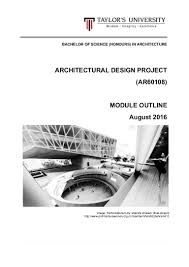 architectural design project module outline august 2016