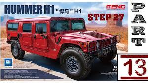 jeep hummer matte black re upload hummer h1 scale model meng 1 24 part 13 live youtube