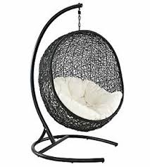 cocoon wicker rattan outdoor patio swing chair lounge relax cushion