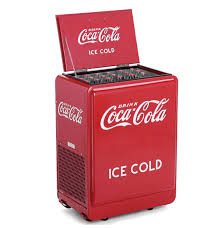 the classic coca cola refrigerated chest reproduction