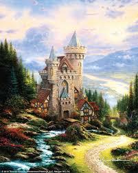 thomas kinkade guardian castle cnvs all other kinkade prints low s