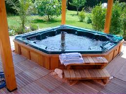 exotic outdoor style jacuzzi spa design ideas theydesign with
