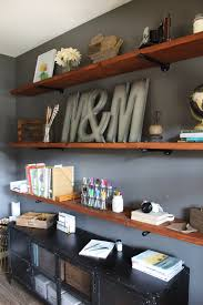 Industrial Bookcase Diy How To Build Industrial Wood Shelves Modish U0026 Main