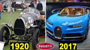 bugatti history evolution of the bugatti 1901 2017 youtube
