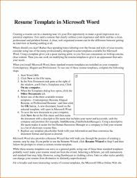 Ms Word 2007 Resume Templates The Awesome Resume In Ms Word 2007 Resume Format Web