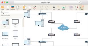 network diagram software to quickly draw network diagrams online