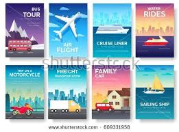 variations transport travel vacation tour guide stock vector
