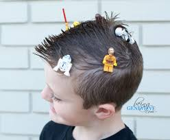 boys hair crown crazy awesome lego hair being genevieve