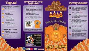 Disney World Magic Kingdom Map Mickey U0027s Not So Scary Halloween Party Park Map Photos Wdw