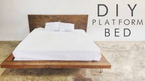 How To Build A Platform Queen Bed Frame by Diy Modern Platform Bed Modern Builds Ep 47 Youtube