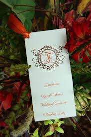 country wedding programs wedding program wiregrass weddings