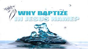 why baptize in jesus name acts 2 38 youtube