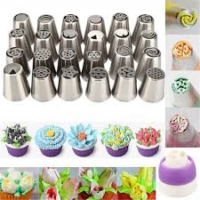 flower decorating tips lots russian pastry flower icing piping nozzles cake decoration