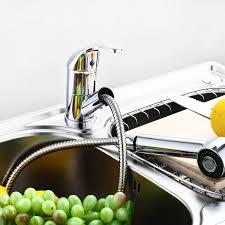 amazon com swivel spout kitchen single handle pull out faucet