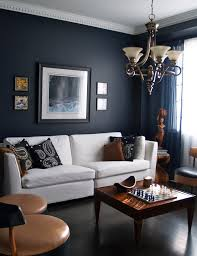 Wooden Furniture For Living Room Designs 15 Beautiful Dark Blue Wall Design Ideas Navy Blue Walls White