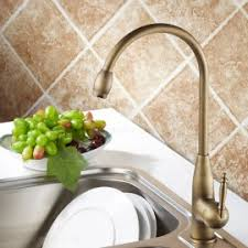 Traditional Kitchen Mixer Taps - antique brass traditional kitchen mixer tap