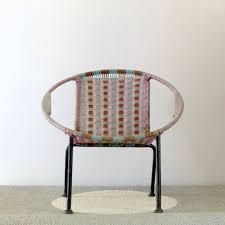 fauteuil en corde fauteuil corbeille pour enfant en corde de nylon lignedebrocante