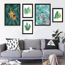 online get cheap pictures cactus aliexpress com alibaba group nordic watercolor plant tropical leaf flower cactus a4 canvas art poster printing wall pictures for modern home fashion decor