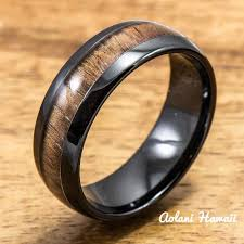 wooden rings wedding images Koa wood wedding rings available in tungsten titanium sterling jpg