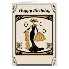 deco birthday cards zazzle co nz