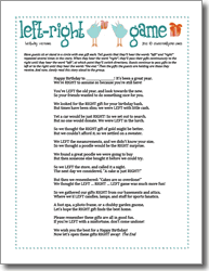 printable drinking games for adults left right birthday printable party game kids pinterest