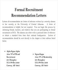 sample sorority recommendation letter 6 examples in word pdf