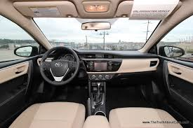 Toyota Interior Colors First Drive Review 2014 Toyota Corolla With Video The Truth