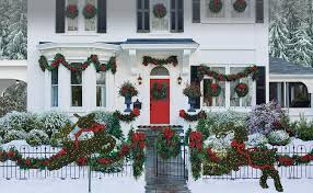 Christmas Window Garland Decorations by Christmas Wreaths Christmas Garlands Frontgate