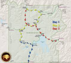 Map Of Yellowstone National Park The Best Way To See Yellowstone In 3 Days Destination West Tours