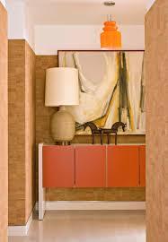 Hall Credenza Mid Century Credenza Dining Room Contemporary With Artwork