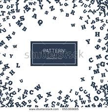random letters seamless pattern abstract background stock vector