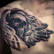 tattoos awesome tattoos compass human skull chest