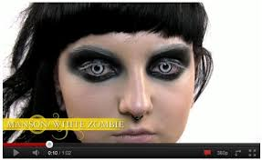 manson the new white zombie halloween contact lenses color me