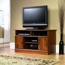 Interior Tv Cabinet Design Furniture Glossy Wood Sauder Tv Stand Design With White Windows