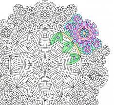 mandala coloring eye gods coloring print