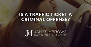 red light ticket lawyer nyc is a traffic ticket a criminal offense
